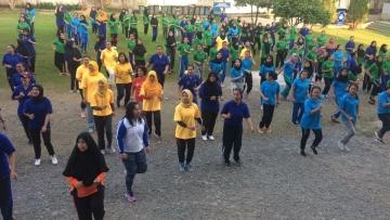 Mahasiswa dan Dosen STIKes Mitra Husada Medan melakukan Senam Sehat 09 Maret 2019