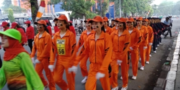 Juara I dan II Lomba Gerak Jalan Beregu Putri dalam rangka Dirgahayu Provinsi Sumatera Utara Ke 71 Tahun 2019