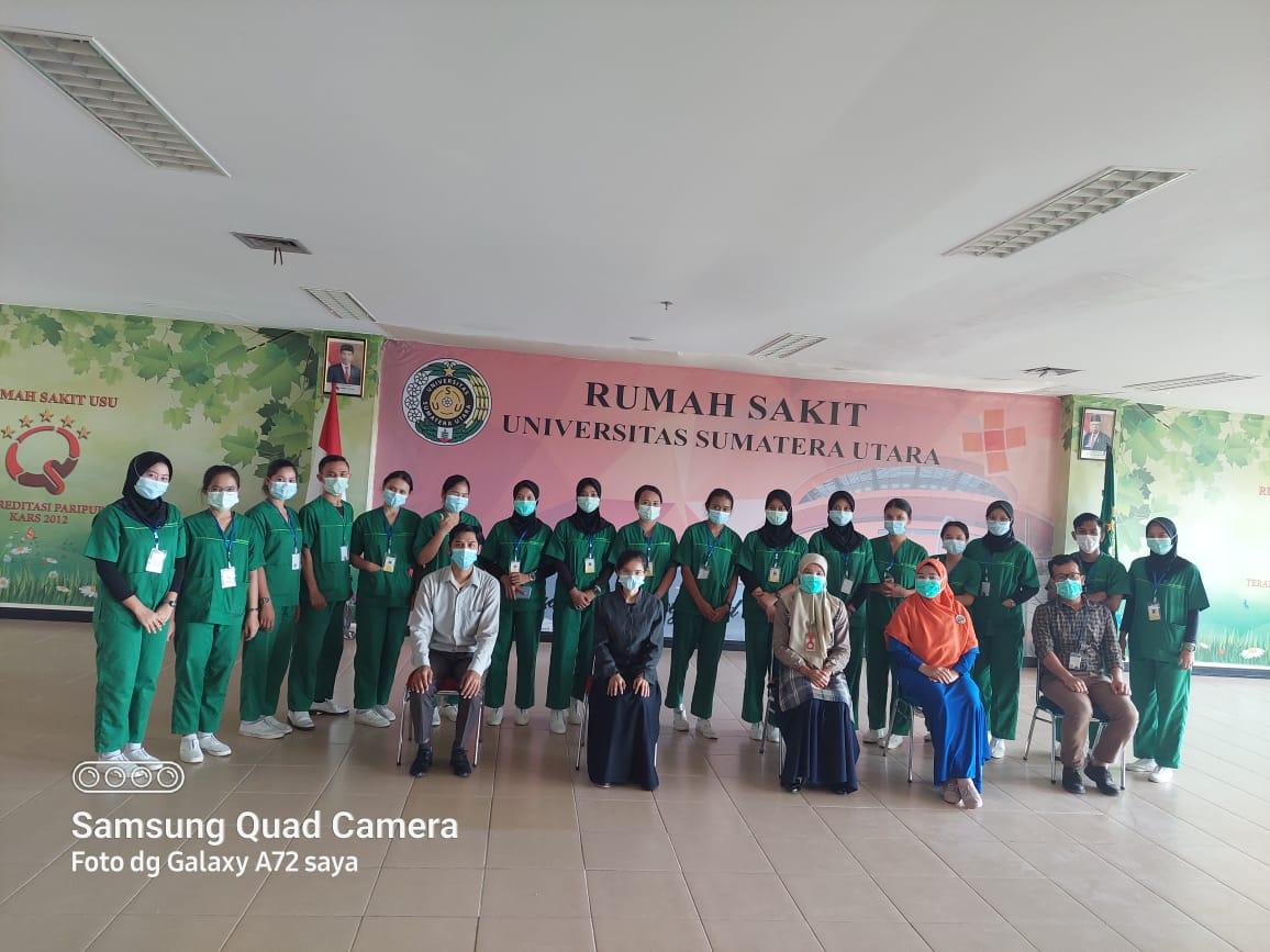 Seminar Praktek Klinik Keperawatan Anak di Rumah Sakit Universitas Sumatera Utara pada tanggal 07 Juli 2021 pukul 13.00 s/d 16.00 WIB