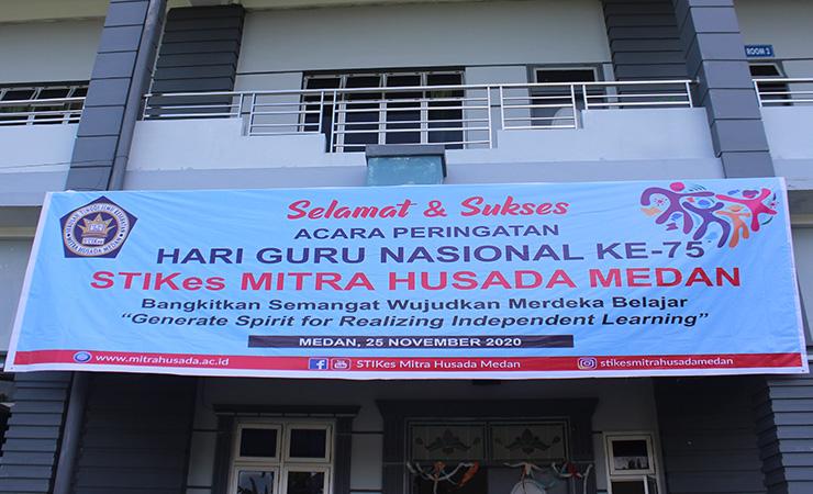 Peringatan Hari Guru Nasional 2020 STIKes Mitra Husada Medan