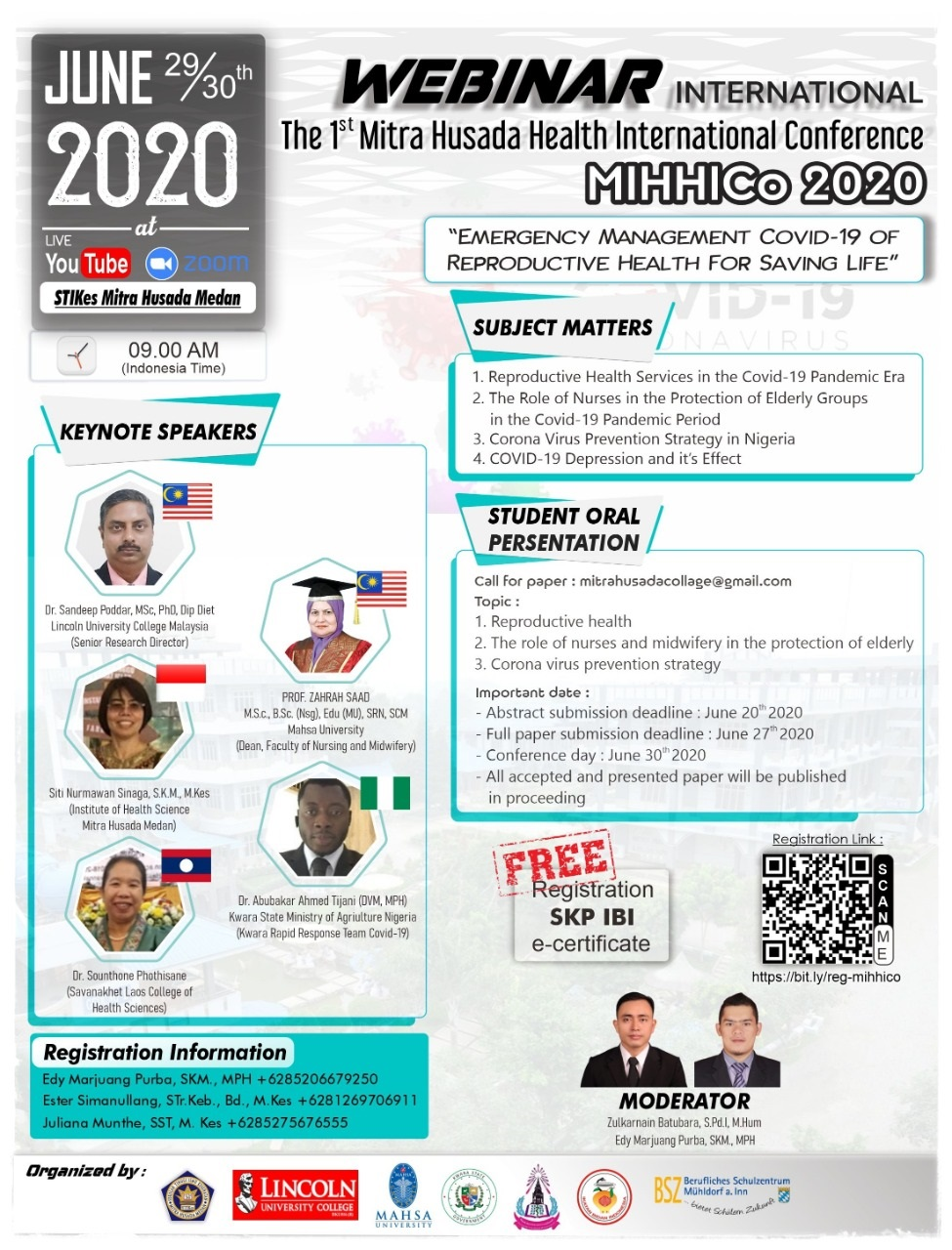 [LIVE] Webinar International The 1(st) Mitra Husada Health International Conference MIHHICo 2020