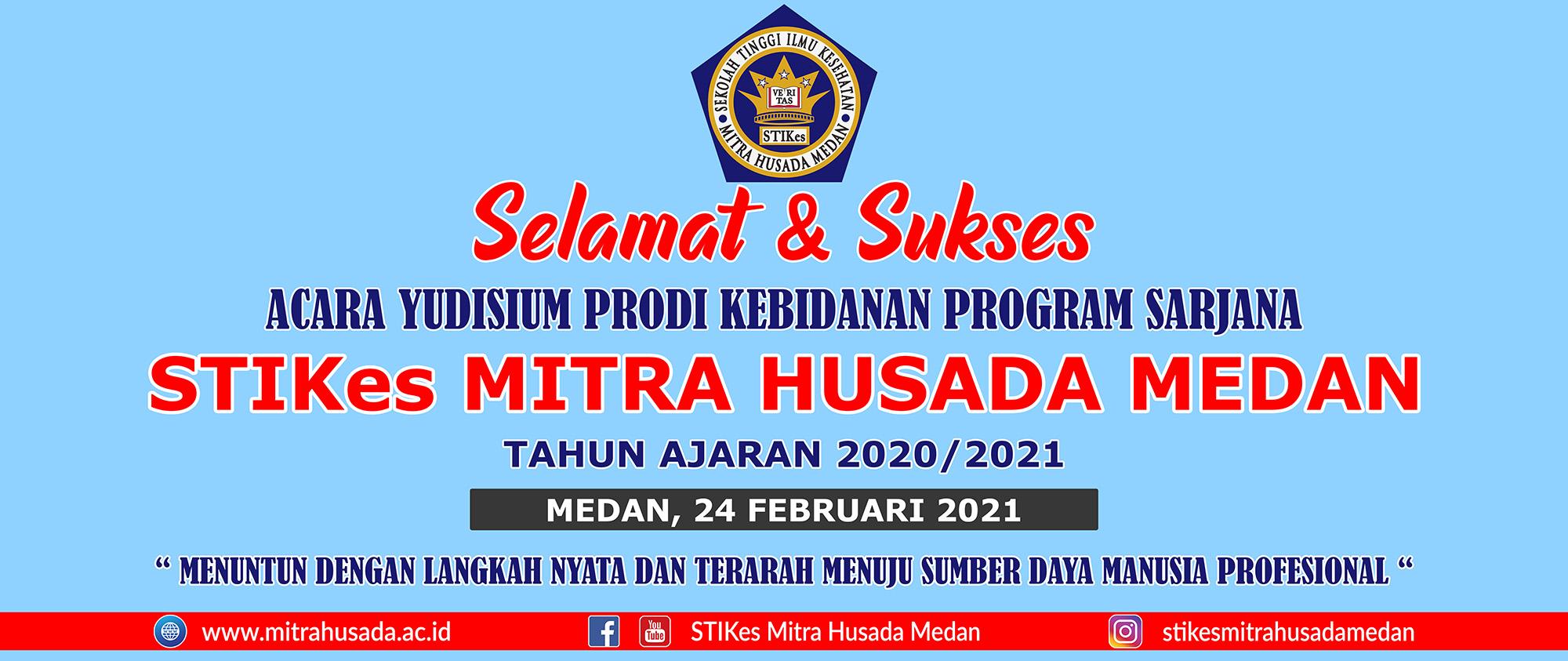 Acara Yudisium Prodi Kebidanan Program Sarjana STIKes Mitra Husada Medan Tahun Ajaran 2020/2021