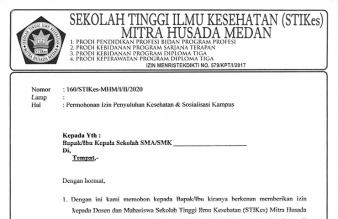 Surat Permohonan Izin Penyuluhan Kesehatan & Sosialisasi Kampus