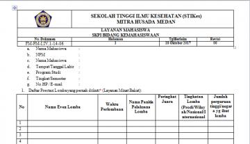 Format Kegiatan Layanan Kemahasiswaan STIKes Mitra Husada Medan