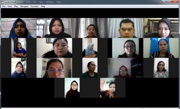 STIKes Mitra Husada Medan mengadakan Rapat Rutin Mingguan menggunakan Zoom Cloud Meeting
