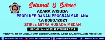 Selamat dan Suskes  Atas terselenggaranya Wisuda  Prodi Kebidanan Program Sarjana Angkatan ke IV Tahun Ajaran 2020/2021