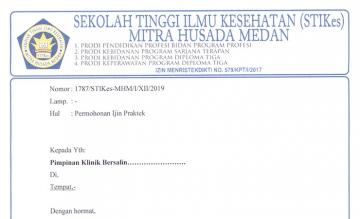 Surat Permohonan Ijin Praktek Mahasiswa STIKes Mitra Husada Medan