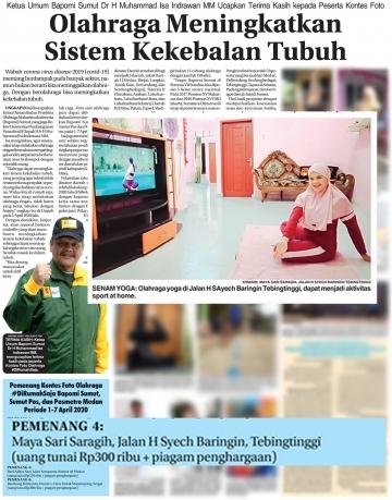 Mahasiswa STIKes Mitra Husada Medan Juara Ke 4 dalam Kontes Foto oleh Bapomi SUMUT