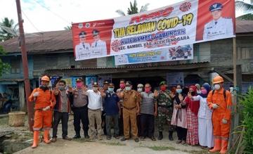 Mahasiswa STIKes Mitra Husada Medan menjadi relawan dalam mencegah penyebaran Covid-19 di Kute Bambel Gabungan Aceh Tenggara