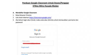 Panduan Google Clasroom untuk Dosen dan Mahasiswa STIKes Mitra Husada Medan
