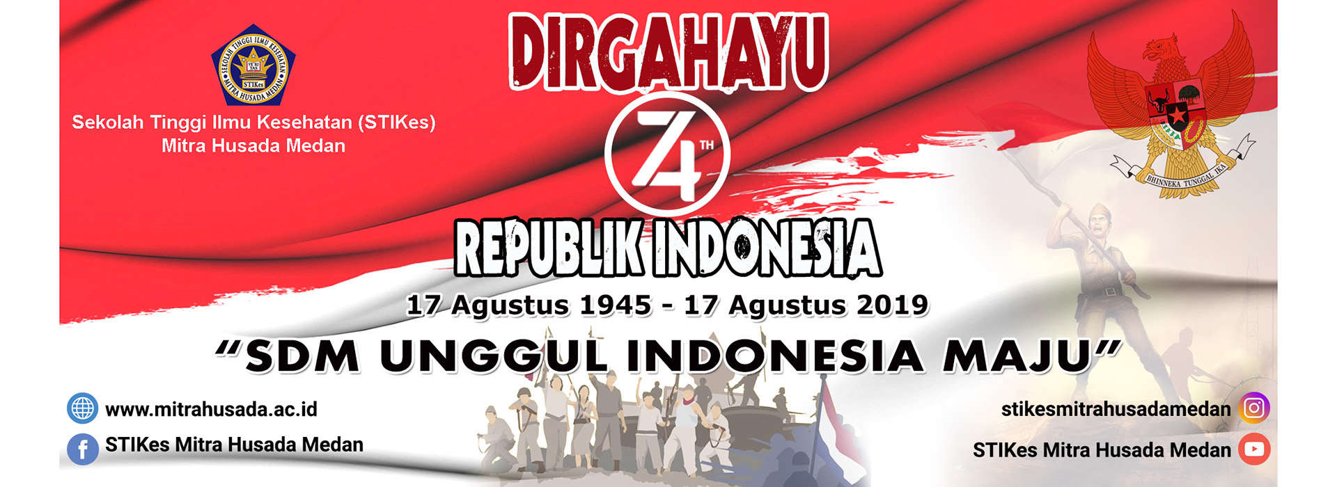 DIRGAHAYU REPUBLIK INDONESIA KE 74